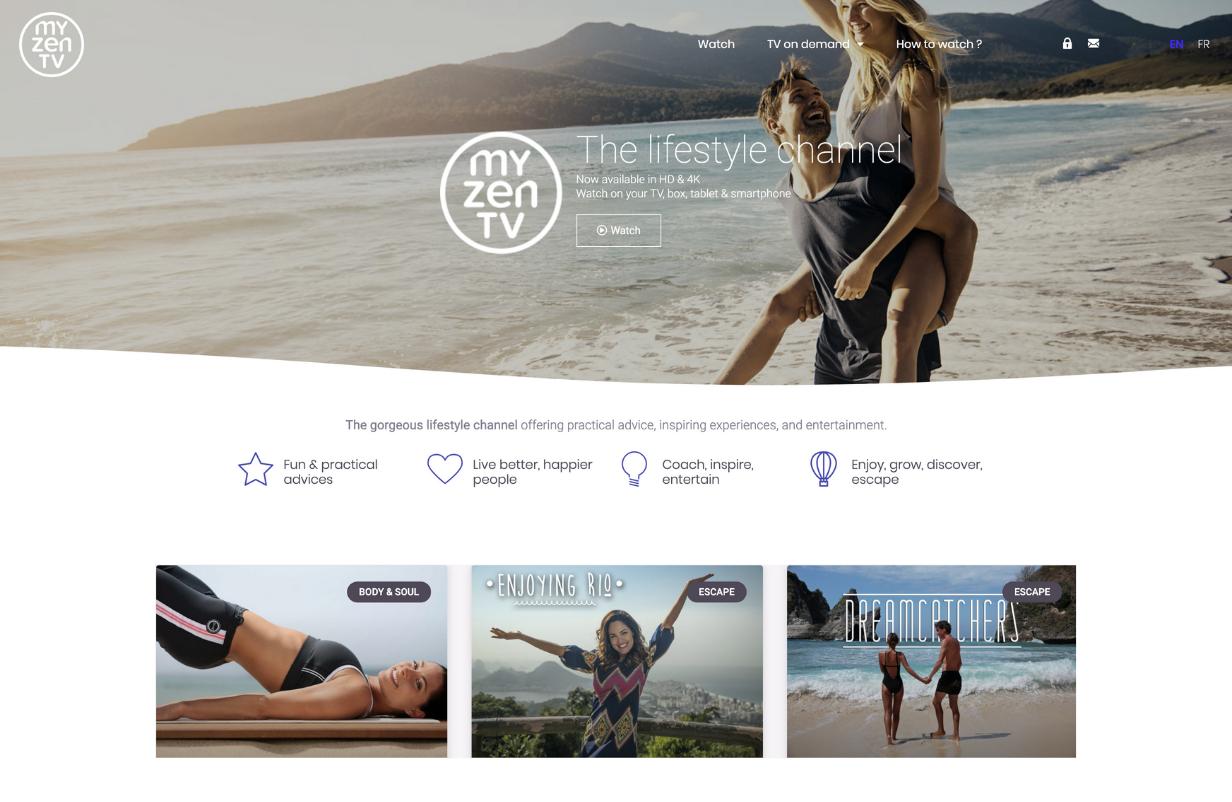 My Zen TV lifestyle channel OTT solution white label