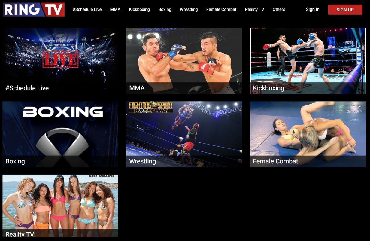 plateforme de streaming vidéo VOD monetisation SVOD AVOD OTT fight boxe